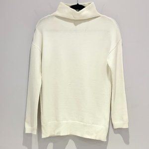 Seven Sisters Knit Mock Neck Sweater White Small